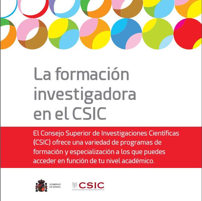 La formación investigadora en el CSIC